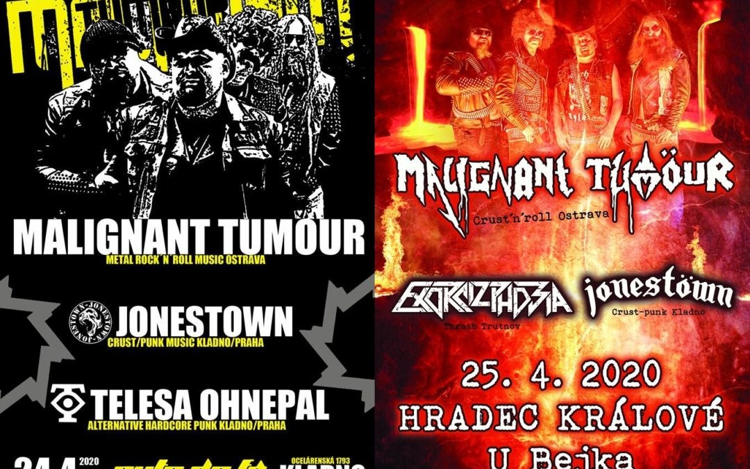 First shows of MALIGNANT TUMOUR in 2020!!!